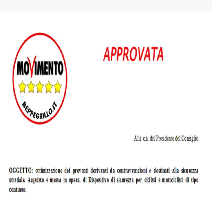 Un'altra conquista per il M5S Ferrara