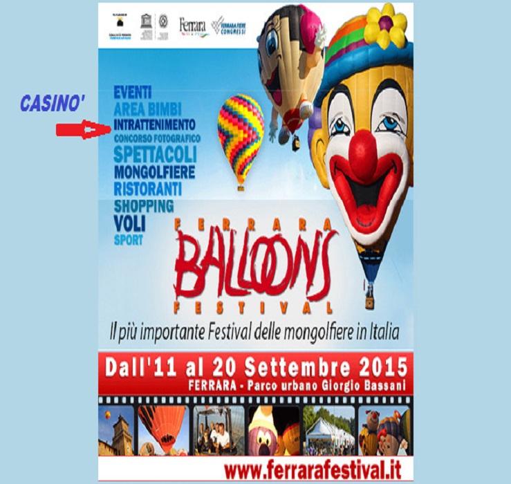 Nel festival Balloons 2015, presente anche un casinò di San Marino